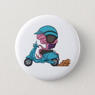 Chapa Redonda De 5 Cm Brain & Helmet