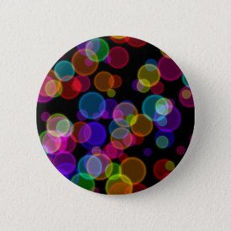 Chapa Redonda De 5 Cm Burbujas coloridas de Bokeh del arco iris