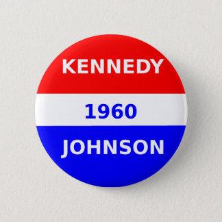 Chapa Redonda De 5 Cm button_Kennedy_And_Johnson_1960