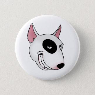 Chapa Redonda De 5 Cm cabeza de bull terrier