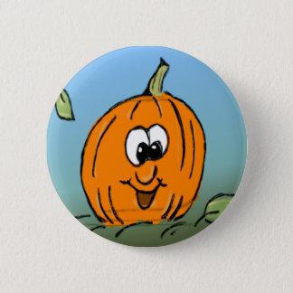 Chapa Redonda De 5 Cm Calabaza amistosa sonriente linda de Halloween