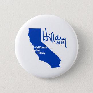 Chapa Redonda De 5 Cm California para Hillary - firma del orgullo del