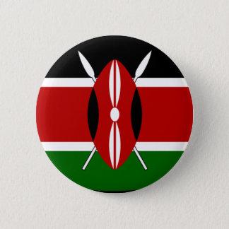 Chapa Redonda De 5 Cm Camisa de la bandera de Kenia