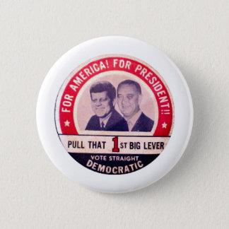 Chapa Redonda De 5 Cm Campaña de Kennedy y de Johnson