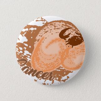Chapa Redonda De 5 Cm Cangrejo anaranjado del horóscopo del cáncer