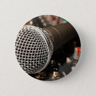 Chapa Redonda De 5 Cm Canto del cable de micrófono del cable del