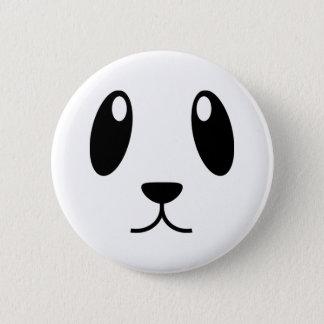 Chapa Redonda De 5 Cm Cara de la panda