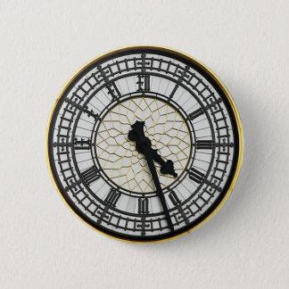 Chapa Redonda De 5 Cm Cara de reloj de Big Ben