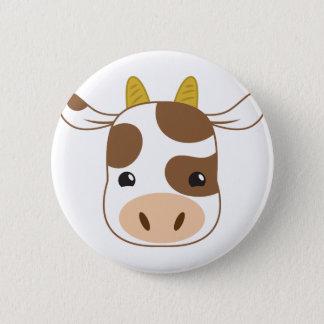 Chapa Redonda De 5 Cm cara linda de la vaca