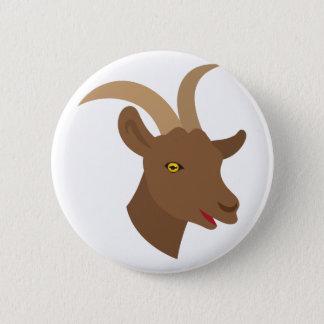 Chapa Redonda De 5 Cm cara linda masculina de la cabra