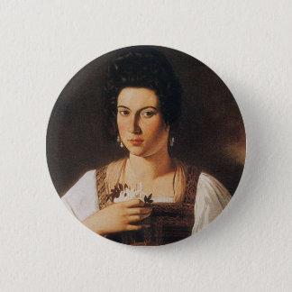 Chapa Redonda De 5 Cm Caravaggio - retrato de una pintura de la