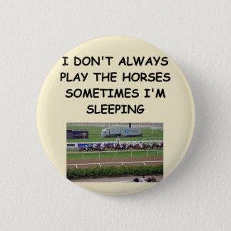 Chapa Redonda De 5 Cm carrera de caballos