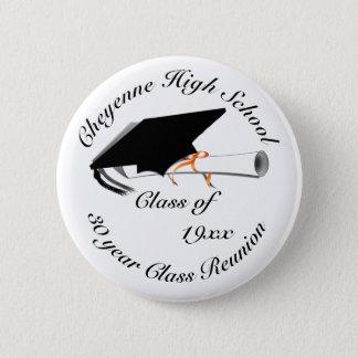Chapa Redonda De 5 Cm Casquillo de la graduación - reunión de la High