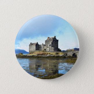 """Chapa Redonda De 5 Cm """"Castillo"""" - Escocia de Eilean Donan"""