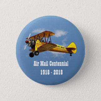 Chapa Redonda De 5 Cm Centennial histórico del servicio del correo aéreo