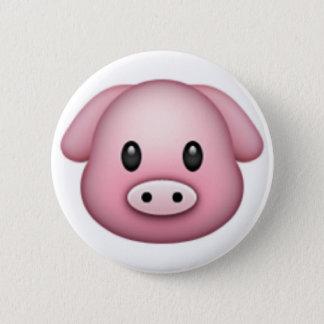 Chapa Redonda De 5 Cm Cerdo Emoji