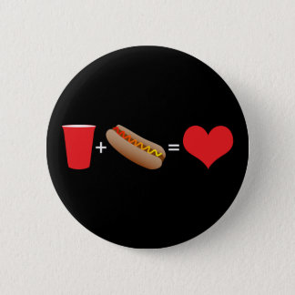 Chapa Redonda De 5 Cm cerveza + perritos calientes = amor