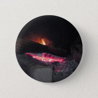Chapa Redonda De 5 Cm Chapiteles del calor de la llama del fuego de