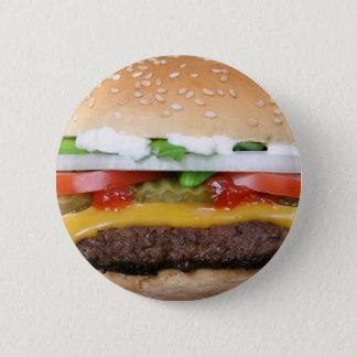 Chapa Redonda De 5 Cm cheeseburger delicioso con la fotografía de las