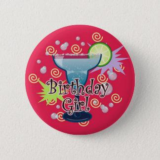 Chapa Redonda De 5 Cm Chica del cumpleaños de Margarita