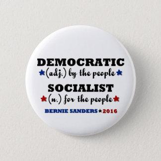 Chapa Redonda De 5 Cm Chorreadoras socialistas Democratic de Bernie