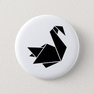 Chapa Redonda De 5 Cm Cisne de Origami