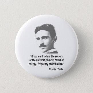 Chapa Redonda De 5 Cm Cita de Nikola Tesla