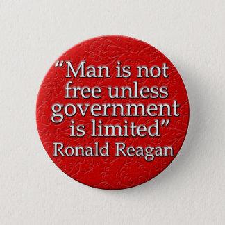 Chapa Redonda De 5 Cm Cita de Ronald Reagan