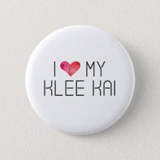 Chapa Redonda De 5 Cm Cita del amor de Klee Kai