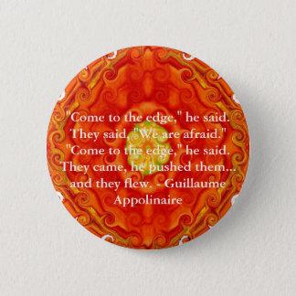 Chapa Redonda De 5 Cm Cita inspirada de Guillaume Appolinaire
