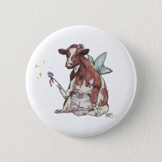 Chapa Redonda De 5 Cm Clementina la vaca de hadas