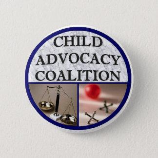 Chapa Redonda De 5 Cm Coalición de la defensa del niño