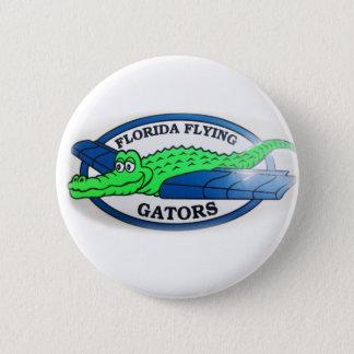 Chapa Redonda De 5 Cm Cocodrilos del vuelo de la Florida