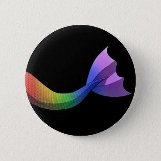 Chapa Redonda De 5 Cm Cola V2 de la sirena del arco iris