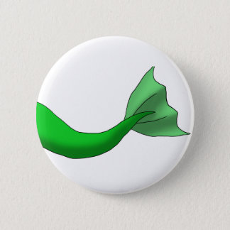 Chapa Redonda De 5 Cm Cola verde de la sirena