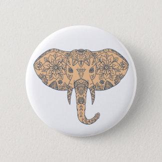 Chapa Redonda De 5 Cm Colmillo principal Mandalaa del elefante