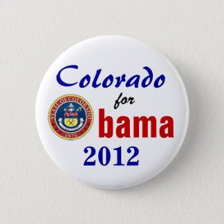 Chapa Redonda De 5 Cm Colorado para Obama 2012
