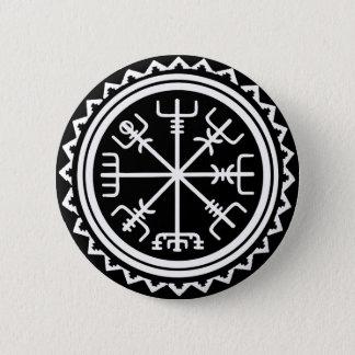 Chapa Redonda De 5 Cm Compás náutico de Viking Vegvisir