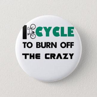 Chapa Redonda De 5 Cm Completo un ciclo para consumir el loco, bicicleta