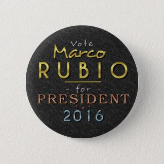 Chapa Redonda De 5 Cm Con clase negro del presidente 2016 oro de Marco