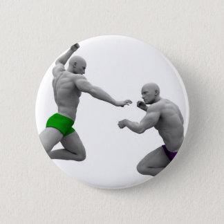 Chapa Redonda De 5 Cm Concepto de los artes marciales para luchar y la