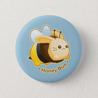 Chapa Redonda De 5 Cm Conejito lindo del bollo de miel