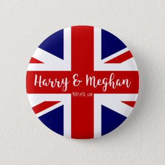 Chapa Redonda De 5 Cm Conmemoración real de Harry y del boda de Meghan