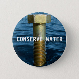 Chapa Redonda De 5 Cm Conserve la insignia del agua