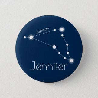 Chapa Redonda De 5 Cm Constelación personalizada del zodiaco del