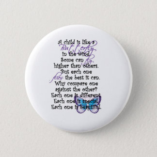 Chapa Redonda De 5 Cm Copia del niño de la mariposa de la camiseta de la