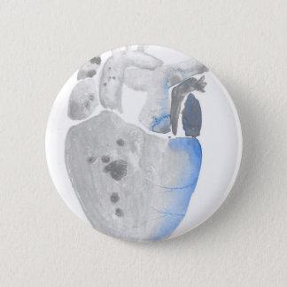 Chapa Redonda De 5 Cm Corazón de la piedra
