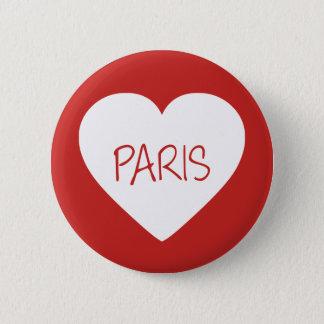 Chapa Redonda De 5 Cm Corazón de París del amor