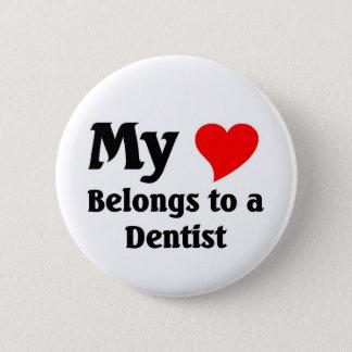 Chapa Redonda De 5 Cm Corazón del dentista