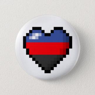 Chapa Redonda De 5 Cm Corazón del pixel de Polyamorous